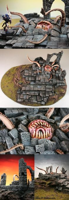 Never thought about adding monsters to my terrain, must try!