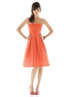 Alfred Sung D438 #orange #bridesmaid #dress