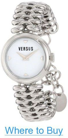 a513749b76f Versus by Versace Women s 3C68400000 Optical Stainless Steel White Dial Watch  Stainless Steel Case