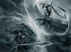 Leona vs Diana community art | League of Legends