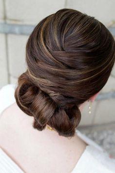 Wedding Hairstyles ~ Sleek wrap updo