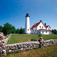 Point Iroquois Lighthouse  Brimley, Michigan