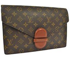 RARE LOUIS VUITTON large monogram canvas RANELAGH clutch purse #LouisVuitton #Clutch