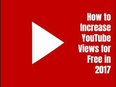 How to increase YouTube views for free in 2017. Visit http://ift.tt/1ltodHp for video notes related content and helpful resources mentioned.  Let's Connect! Twitter - https://twitter.com/MrJustinBryant  Facebook - http://ift.tt/1LQomnx  Google - http://ift.tt/1PaQTrN  In this video you'll learn some of the best ways to increase YouTube views for free in 2017. We all want to get a million views per video like Pewdiepie Jenna Marbles or some of the other top YouTube celebrities but it's…