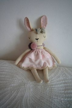 This soft embroidered animal doll is dressed in nice linen outfit that is easily taken off, the girl can dress the doll by herself or even make new clothes.Hand made on my own pattern in my home studio. It was made with high quality materials and the greatest attention to detail.I