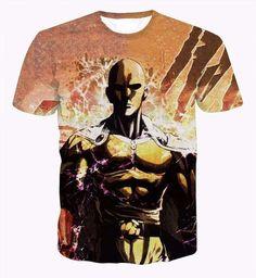 One Punch Man 3D Short Sleeve T-Shirt - OtakuForest.com