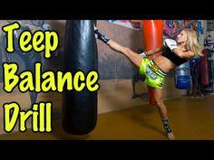 Muay Thai Heavy Bag Drill For Kicking Balance Muay Thai Techniques, Martial Arts Techniques, Self Defense Techniques, Muay Thai Workouts, Muay Thai Kicks, Muay Thai Training, Kickboxing Workout, Martial Arts Workout, Mixed Martial Arts