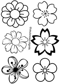 Beading Patterns, Flower Patterns, Embroidery Patterns, Hand Embroidery, Doodle Drawings, Doodle Art, Easy Drawings, Flower Doodles, Flower Template