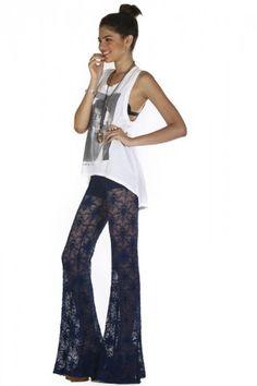 Iris Lace Pant- Nightcap