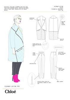 Sewing art portfolio fashion design 22 ideas for 2019 Flat Drawings, Flat Sketches, Fashion Design Portfolio, Fashion Design Sketches, Art Portfolio, Fashion Drawings, Fashion Flats, Fashion Art, Fashion Collage