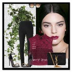 """Kendall Jenner"" by aliakolli ❤ liked on Polyvore featuring OKA, Yves Saint Laurent and self-portrait"