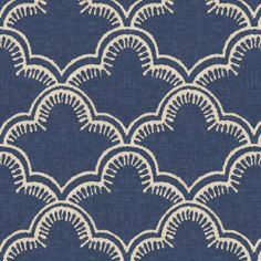 Tangier in Indigo Linen fabric by sparrowsong on Spoonflower - custom fabric