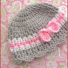 Free Crochet Patterns For Baby Girl Hats