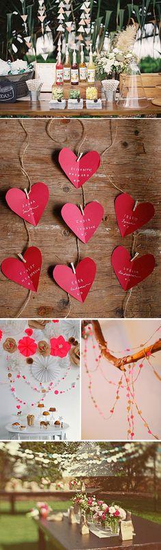 Guirnaldas de papel para decorar bodas y fiestas