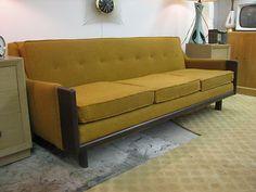 Mid Century Modern Sectional Sofa Mustard Dated 1970 | eBay