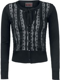 romantic cardigan with lace front and bow collar <3