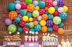 Love this colorful backdrop for any celebration.