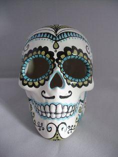 Hombrecito  Day of the Dead Skull Dia de los by CaliforniaGroove, $40.00