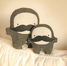 Bambaks Pa and Kiddo mustache father and son by Bambaks on Etsy, $55.50