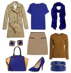 New autumn color combos to try: Blue and Tan