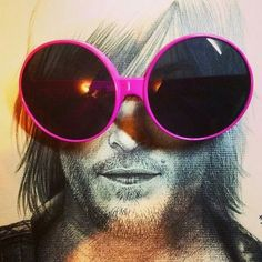 Big pink glasses