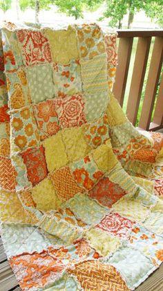 Modern Southern Country Decor | ... Rag, Heirloom in Citrine, ALL NATURAL, fresh modern handmade bedding