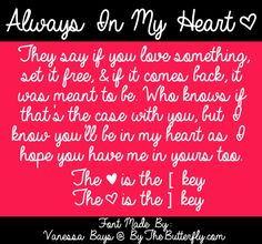 Always In My Heart Font | dafont.com