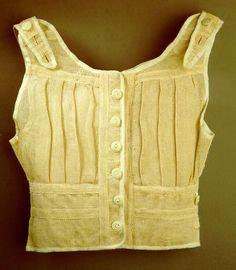 Title: Child's undershirt  Date: 1916/17  Material: Papercloth