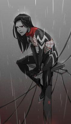 "comic-book-ladies: "" Silk by Cassey Kuo "" Marvel Marvel Comics, Marvel Art, Marvel Heroes, Marvel Characters, Comic Books Art, Comic Art, Silk Marvel, Spider Art, Spider Verse"