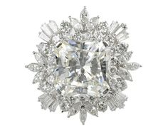Yep an engagement ring that actually looks like a snowflake! Spectacular 12.93ct Diamond Cluster Ring