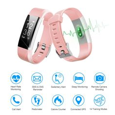 LETSCOM Fitness Tracker HR Activity Tracker Watch with Heart Rate Monitor Waterproof Smart Fitness Band with Step Counter Calorie Counter Pedometer Watch for Kids Women and Men *** Read more at the image link. (This is an affiliate link) Cool Watches For Women, Trendy Watches, Cute Watches, Black Watches, Phone Watch For Kids, Girls Wrist Watch, Activity Tracker Watch, Pink Football, Glow Party Supplies