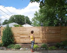 Follow this article on basic instructions on building a horizontal fence. #fence
