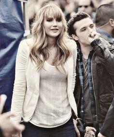 Jennifer Lawrence with Josh Hutcherson