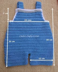 Linda's Crafty Corner: Baby Dungaree Pattern 3 M I have had lots of emails requesting a New born size for the Crochet Dungarees which I made back here , so here it is as promised. Resultado de imagen para Free Crochet Baby Sailor Hat Pattern/etsy*com Baby Crochet Baby Pants, Crochet For Boys, Crochet Clothes, Free Crochet, Crochet Gifts, Crochet Pig, Newborn Crochet, Double Crochet, Baby Knitting Patterns