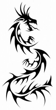 Dragon Tattoos: Chinese Tribal Dragon Tattoo