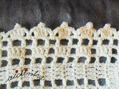 Foto do picô em volta da manta de crochet Irish Crochet, Crochet Baby, Friendship Bracelets, Crochet Patterns, Margarita, Fun, Crochet Edgings, Ribbon Bows, Crocheting Patterns