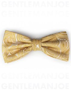 Yellow Gold Paisley Bow Tie