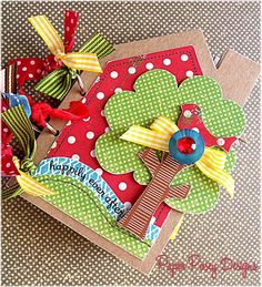 HAPPILY EVER AFTER Cute House Shaped Chipboard Scrapbook Album by Paper Posey…
