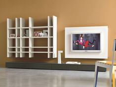 Ensemble mural composable avec support tv SLIM 9 by Dall'Agnese