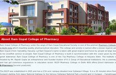 Pharmacy College Gurgaon, Haryana| Pharmacy College Delhi, NCR| Pharmacy College North India- ramgopalcollege.com