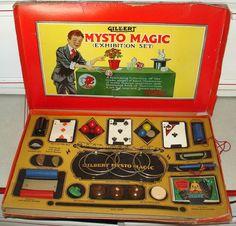1930's? Gilbert Mysto Magic Exhibition Magic Set #3. #Gilbert