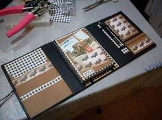 Resultado de imagem para como fazer scrapbook em cadernos passo a passo