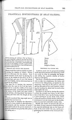 August, 1857: How to make Stays, page 1