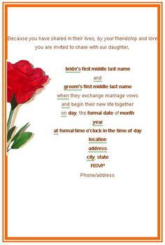 Wedding Announcement Wedding Card Invitation Rose Frame Printable Wedding  Invitation
