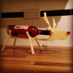 Rudolph wine rack by AdvanceLaser on Etsy