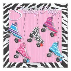 Roller Skate Birthday Invitations Roller Skating Party Invitations