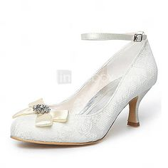 $49.99 - Satin Upper Mid Heel Closed-toes With Satin Flower Wedding Bridal Shoes