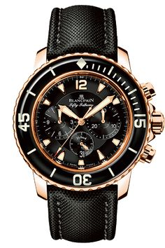Blancpain Chronograph Flyback Fifty Fathoms Red Gold