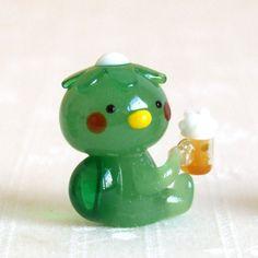 ガラス細工 ミニチュア 雑貨 置物   かっぱビール :CJ-0971:ガラス細工 THE JOY LUCK STORE - 通販 - Yahoo!ショッピング