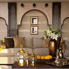 Arabian Home Design with Islamic Wall Decor: Bringing the Culture into Your Home Interior Design Arabic Decor, Islamic Decor, Luxury Interior, Home Interior, Interior Decorating, Interior Ideas, Moroccan Design, Moroccan Decor, Moroccan Style